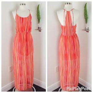 GB Gianni Bini Stunning Orange Maxi Dress Size (L)